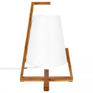 Lampe à poser originale et design - Pied en bambou et abat jour aspect fibre de verre de la marque Atmosphera image 0 produit
