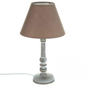 Lampe à poser - Style romantique - Coloris TAUPE patiné Hauteur 36cm de la marque Atmosphera image 0 produit