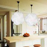 Lampe puzzle abat-jour 40cm Blanc, 30pcs Set 15 designs DIY Lustre Eclairage Suspension ( cable douille NON INCLUSE) de la marque Folowish image 1 produit