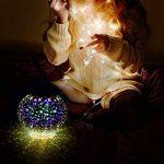 Lampe Solaire Veilleuse avec 2 LED Lampe d'ambiance Etanche IP65, Lampe de Chevet de Verre Intelligente Automatique à 2 Modes pour Jardin, Salon, Décorations d'Intérieur / Extérieur (Étoiles) de la marque GRDE image 3 produit