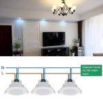 Lampe Spot Plafond Encastrable Plafonnier a LED 8W 220V pour Salle de Bain Cuisine Blanc Froid 5000K IP44 Trou de Plafond Φ70-85MM Lot de 1 de Enuotek de la marque ENUOTEK image 3 produit