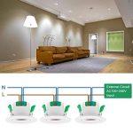 Lampe Spot Plafonnier Orientable Encastrable LED à Encastrer 7W 220V pour Plafond Blanc Froid 5000K Trou de Plafond Diamètre 70~75MM Lot de 1 de Enuotek de la marque Enuotek image 3 produit
