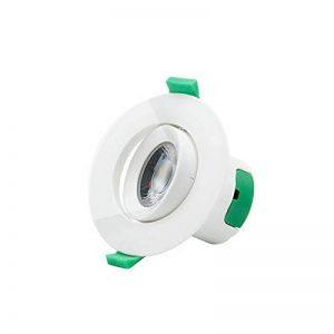 Lampe Spot Plafonnier Orientable Encastrable LED à Encastrer 7W 220V pour Plafond Blanc Froid 5000K Trou de Plafond Diamètre 70~75MM Lot de 1 de Enuotek de la marque Enuotek image 0 produit