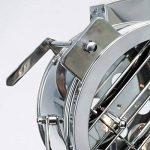 Lampe sur pied chromé cine au design industriel, trépied avec des jambes de bois, 1 ampoule e27 max. 60 w, hauteur 175 cm-diamètre : 45 cm gris métaL/lois de la marque NAUTICAL MART image 1 produit