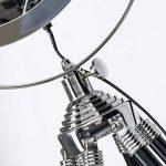 Lampe sur pied chromé cine au design industriel, trépied avec des jambes de bois, 1 ampoule e27 max. 60 w, hauteur 175 cm-diamètre : 45 cm gris métaL/lois de la marque NAUTICAL MART image 2 produit