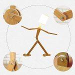 Lampe sur pied créative en forme de personnage, en bois nordique, 110cm, ampoule E27 (non incluse), Weiß 40.0W de la marque sweet sunshine image 3 produit