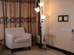 Lampe sur pied en fer, Lampe sur pied à table ronde en chinois moderne Commutateur de sous-commande haute 173cm (Couleur : Blanc) de la marque M & M image 0 produit