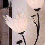 Lampe sur pied en fer, Lampe sur pied à table ronde en chinois moderne Commutateur de sous-commande haute 173cm (Couleur : Blanc) de la marque M & M image 3 produit