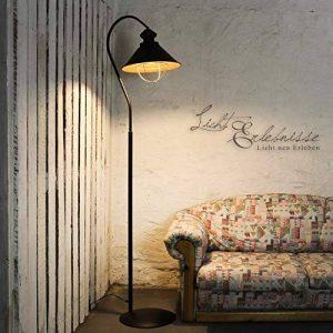 Lampe sur pied loft en métal marron/intérieur en cuivre avec culot e27 industrielampe vintage de sol industriel de la marque Licht-Erlebnisse image 0 produit