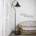 Lampe sur pied loft en métal marron/intérieur en cuivre avec culot e27 industrielampe vintage de sol industriel de la marque Licht-Erlebnisse image 1 produit
