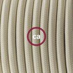 Lampe suspension en porcelaine câble textile Effet Soie Ivoire RM00 - 1 Mètres, Kit bricolage de la marque Creative-Cables image 1 produit