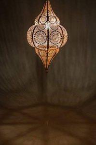 Lampe Suspension Luminaire marocaine Malha 50cm blanc E14 Douille | Plafonnier Lustre de Salon marocain oriental | Lanterne électrique indienne Vintage design décoration de maison orientale arabe de la marque Marrakesch Orient & Mediterran Interior image 0 produit