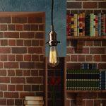 Lampe Suspension Vintage, Elfeland E27 110-240V Lustre Industriel avec 2M Câble de 3-Fils Réglable Lampe Pendentif Rétro DIY Plafonnier Luminaire éclairage de Plafond (sans Ampoule)-Rouge Bronze de la marque Elfeland image 1 produit