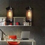 Lampe Suspension Vintage, Maxsal E27 Lustre Plafonniers (sans ampoule) Style Retro Industrielle (Forme cylindrique) de la marque Maxsal image 2 produit