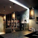 Lampe Suspension Vintage, Maxsal E27 Lustre Plafonniers (sans ampoule) Style Retro Industrielle (Forme cylindrique) de la marque Maxsal image 3 produit