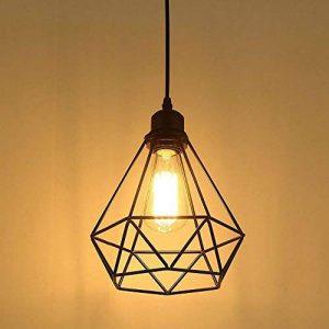 Lampe Suspension Vintage, Maxsal E27 Lustre Plafonniers (sans ampoule) Style Retro Industrielle (forme de cage) de la marque Maxsal image 0 produit