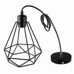 Lampe Suspension Vintage, Maxsal E27 Lustre Plafonniers (sans ampoule) Style Retro Industrielle (forme de cage) de la marque Maxsal image 4 produit