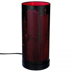 Lampe Tactile new york cylindrique Rose / Noir de la marque Atmosphera image 0 produit