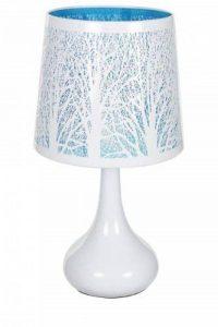Lampe touch métal blanc motif arbre bleu de la marque Atmosphera image 0 produit