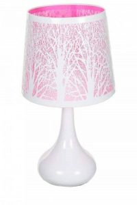 Lampe touch métal blanc motif arbre rose de la marque Atmosphera image 0 produit