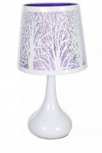 Lampe touch métal blanc motif arbre violet de la marque Atmosphera image 0 produit