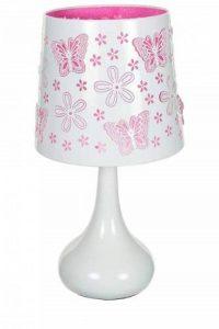 Lampe touch métal blanc motif papillon rose de la marque Atmosphera image 0 produit