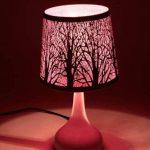 Lampe touch métal blanc motif papillon rose de la marque Atmosphera image 1 produit