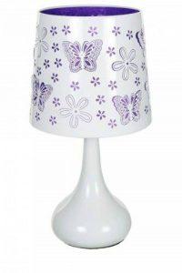 Lampe touch métal blanc motif papillon violet de la marque Atmosphera image 0 produit