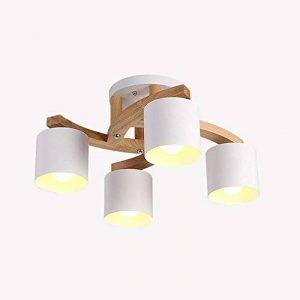 Lampes de plafond en bois massif rond créatif, LED nordique LED gris/vert / blanc éclairage lustres décoratifs de la marque DFND image 0 produit