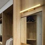 Lampes de salle de bains au-dessus du miroir, luminaire de vanité de LED avec la lumière normale, corps en bois et abat-jour acrylique, applique de mur pour l'allée, lampe avant de miroir de commode de la marque MZ image 3 produit