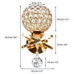 Lampes Murales en Cristal Applique Murale Cristal E14 Décorative au Style Moderne Lampe de Chevet Applique du Salon Décoration de la Maison Ampoule Non Inclus (Classe Energétique A+) (d'or) de la marque Cozihoma image 2 produit