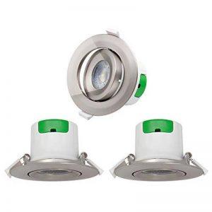 Lampes Plafonnier Spots a Encastrer LED Encastrable Plafond Orientable LED Plastique Nickelé 7W Blanc Froid 5000K Trou de Plafond Diamètre 70-75MM AC100~240V Lot de 3 de Enuotek de la marque ENUOTEK image 0 produit