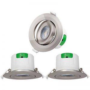Lampes Spot a LED Encastrable de Plafond LED a Encastrer Orientable Plastique Nickelé 9W 5000K Blanc Froid Trou de Plafond Diamètre 85-90MM AC100~240V Lot de 3 de Enuotek de la marque ENUOTEK image 0 produit