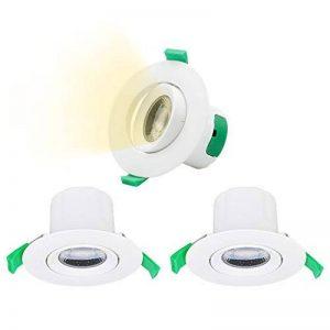 Lampes Spot a LED Encastrable Plafond LED 7W 600Lm Orientable 220V Blanc Chaud 3000K Trou de Plafond 70-75MM Direction Eclairage Réglable, Lot de 3 de Enuotek de la marque Enuotek image 0 produit