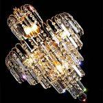 *lampes suspendues intérieures Éclairage moderne de lustre en cristal de goutte de pluie de K9, lampe en cristal de cristal de restaurant de chambre à coucher de lustre Lustre de ménage de la marque Yxx max image 2 produit