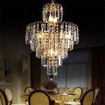 *lampes suspendues intérieures Éclairage moderne de lustre en cristal de goutte de pluie de K9, lampe en cristal de cristal de restaurant de chambre à coucher de lustre Lustre de ménage de la marque Yxx max image 3 produit