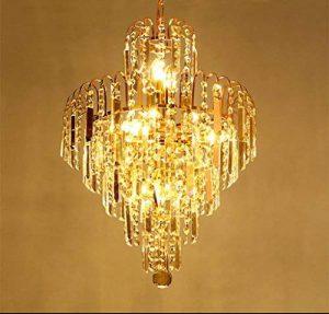 *lampes suspendues intérieures Éclairage moderne de lustre en cristal de goutte de pluie de K9, lampe en cristal de cristal de restaurant de chambre à coucher de lustre Lustre de ménage de la marque Yxx max image 0 produit