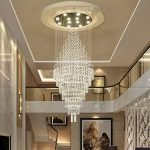 *lampes suspendues intérieures Lustres en cristal, Duplex Villa Escalier Grand salon Long Lustre Lustre de ménage (taille : 10 lights/70 * 220cm) de la marque Yxx max image 1 produit