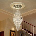 *lampes suspendues intérieures Lustres en cristal, Duplex Villa Escalier Grand salon Long Lustre Lustre de ménage (taille : 10 lights/70 * 220cm) de la marque Yxx max image 2 produit