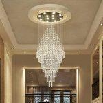 *lampes suspendues intérieures Lustres en cristal, Duplex Villa Escalier Grand salon Long Lustre Lustre de ménage (taille : 10 lights/70 * 220cm) de la marque Yxx max image 3 produit