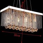 *lampes suspendues intérieures Lustres en cristal, lustres rectangulaires de plafond, lustre en cristal de luxe Lustre de ménage de la marque Yxx max image 2 produit
