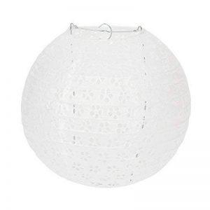 Lampion Chinois Ciselée Abat-jour en Papier Lanterne Boule pour Décoration de Mariage Maison Noël Fête etc. Avec LED(Lot de 10pcs)-Dazone®-Blanc 10 Pouces(25cm) de la marque Dazone image 0 produit
