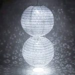 Lampion Chinois Ciselée Abat-jour en Papier Lanterne Boule pour Décoration de Mariage Maison Noël Fête etc. Avec LED(Lot de 10pcs)-Dazone®-Blanc 10 Pouces(25cm) de la marque Dazone image 2 produit