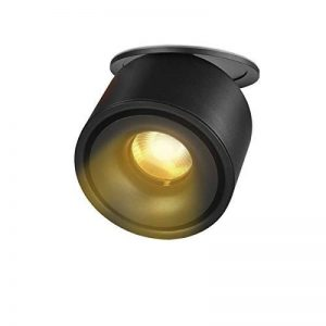 LANBOS 10W plafonnier spot LED downlight,LED Spots Encastrables, Aangle du corps de lampe réglable, Plafonnier d'intérieur,10 * 8cm,Trou 9-9.5cm (Noir+blanc chaud) de la marque LANBOS image 0 produit