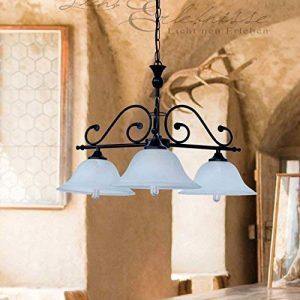 Landhaus lustre avec éléments en verre albâtre 1/4/753 plafonnier de style maison de campagne de la marque Licht-Erlebnisse image 0 produit