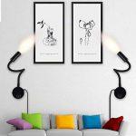 LANFU Lampe Murale 3 W Flexible Col de Cygne Lumière de Travail LED Éclairage pour Lecture de Chevet Applique Modulaire Contemporaine pour Chambre, Noir de la marque Lanfu image 2 produit