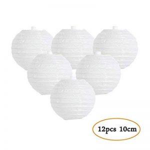 Lanterne Papier Blanc Decoration Lampion Chinois Abat-jour en Papier Boule pour Décoration de Mariage, Maison, Fête, Anniversaire - 12 pcs 10 cm de la marque Easy Joy image 0 produit