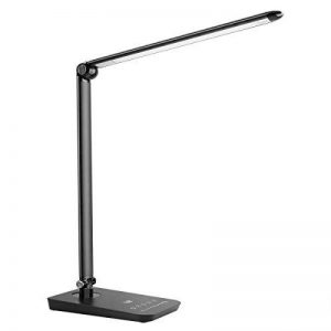 LE Lighting EVER Lampe de Bureau LED, Lampe de Table LED 8W avec Port de Charge USB, 3 Modes 7 Niveaux de Luminosité Réglable, Bras Repliable, Pavé Tactile, Noire [Classe énergétique A+] de la marque Lighting EVER image 0 produit