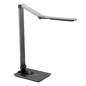 LE Lighting EVER Lampe de Bureau LED, Tri-pliage Tactile avec Port USB, 3 Niveaux de Luminosité, en Aluminium et ABS, 19W (LED 9W, USB 10W) 500lm de la marque Lighting EVER image 0 produit