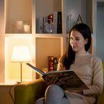 LE Lighting EVER Lampe de Chevet de Nuit Culot E27, avec Abat-jour Cylindrique en Tissu, Lampe pour Bureau Chambre Salon Hotêl Café de la marque Lighting EVER image 3 produit
